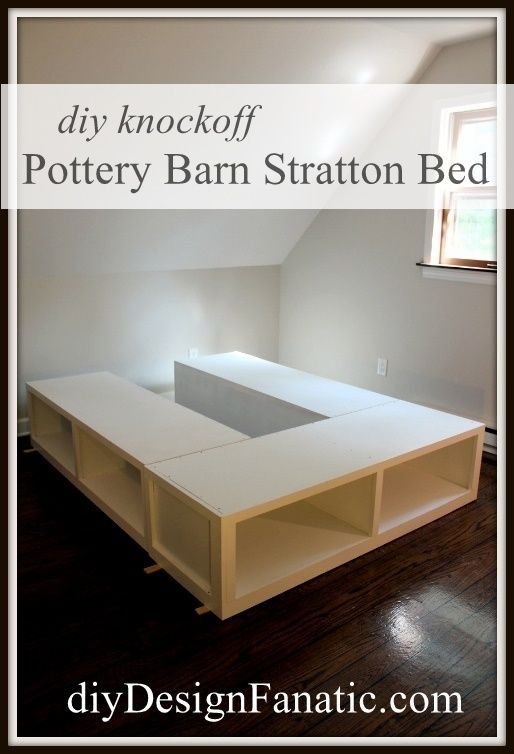 Diy Design Fanatic Pottery Barn Knockoff Storage Bed Finished With The Finish Max Sprayer