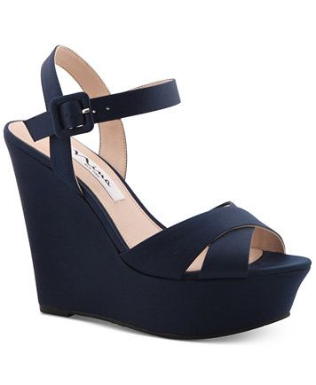 18f81e2b1bd Nina Jinjer Platform Evening Wedge Sandals