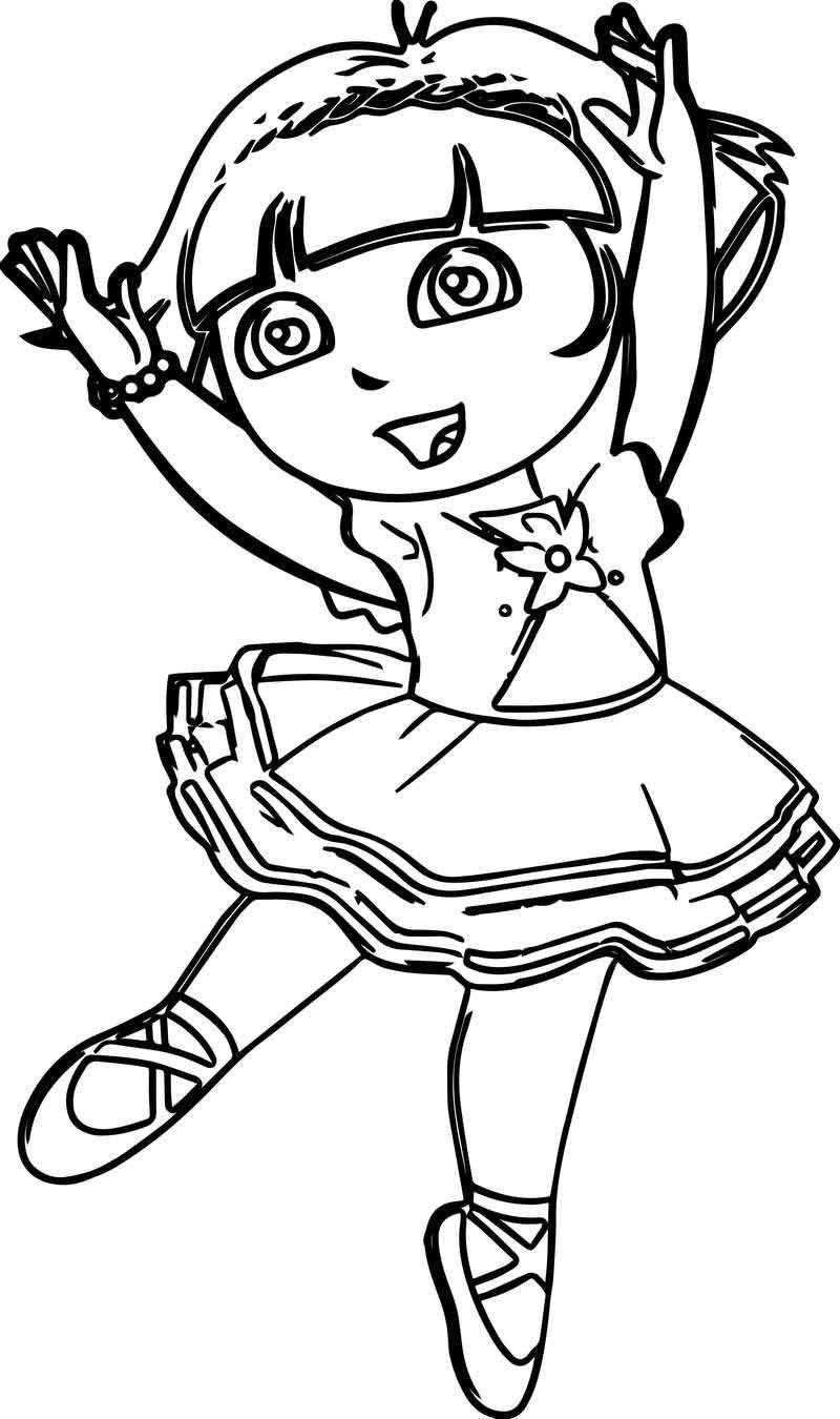 Dora Ballerina Coloring Page Ballerina Coloring Pages Coloring Pages Cartoon Coloring Pages