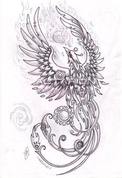 girly rising phoenix tattoo girly phoenix tattoos phoenix