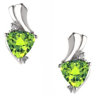 Trillion Cut Peridot Birthstone Diamond White Gold Earrings Gemologica.com offers a unique and simple selection of handmade fashion and fine jewelry for men, woman and children to make a statement. We offer earrings, bracelets, necklaces, pendants, rings and accessories with gemstones, diamonds and birthstones available in Sterling Silver, 10K, 14K and 18K yellow, rose and white gold, titanium and silver metal. Shop Gemologica jewellery now for cool cute design ideas