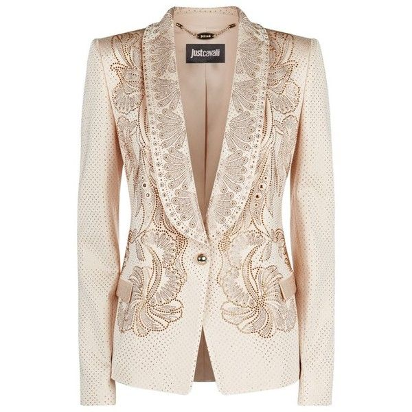 f24e0c3426454 Just Cavalli Crystal Embellished Tuxedo Jacket ($1,560) found on Polyvore  featuring women's fashion, outerwear, jackets, blazers, blazer, coats,  casacos, ...