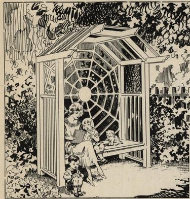 A Spider Web Garden Seat | Garden seating, Spider web ...