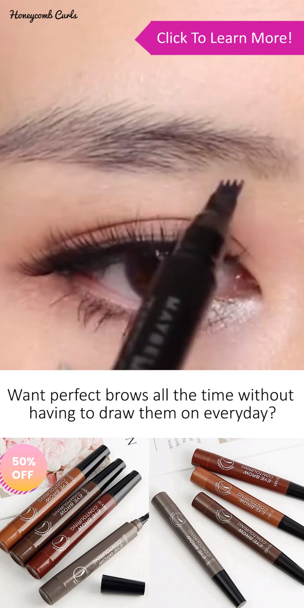 Natural Looking Brows That Stay On For Days
