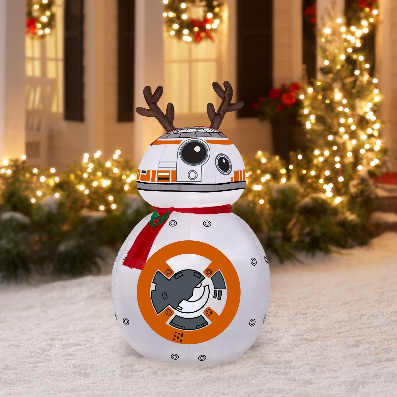 4ft Gemmy Christmas Airblown Inflatable Star Wars Bb 8 Reindeer Ears Holiday Star Wars Christmas Ornaments Star Wars Christmas Decorations Christmas Ornaments