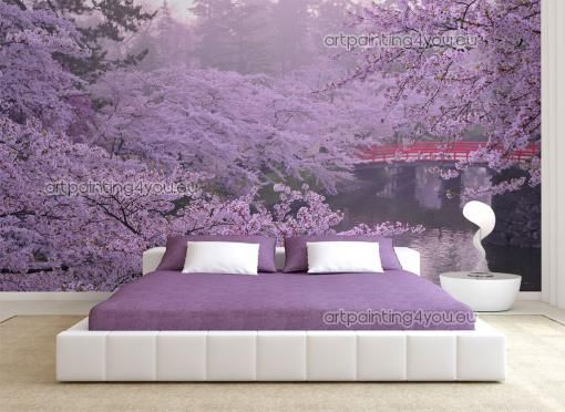 papier peint poster fleurs de cerisier mcp1079fr papier peint. Black Bedroom Furniture Sets. Home Design Ideas
