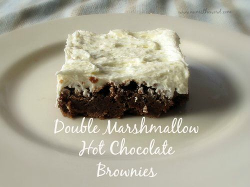 Tasty Brownies with marshmallows and a marshmallow frosting. Mmm. Mmm. Good. #marshmallowflufffrosting