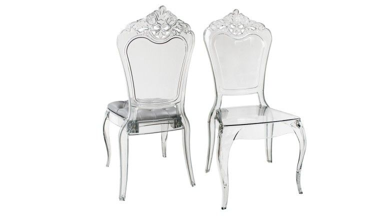 Chaise Plexi Transparente Baroque Astorga 2 Mobiliermoss