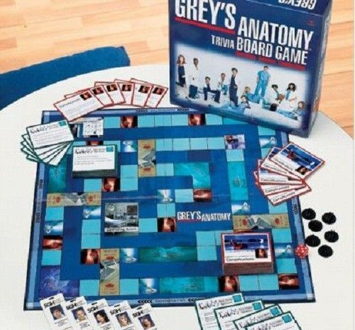 Trivia Games Greys Anatomy Trivia Board Game Surgical Hospital Drama Romance Greys Anatomy Greys Anatomy Facts Anatomy