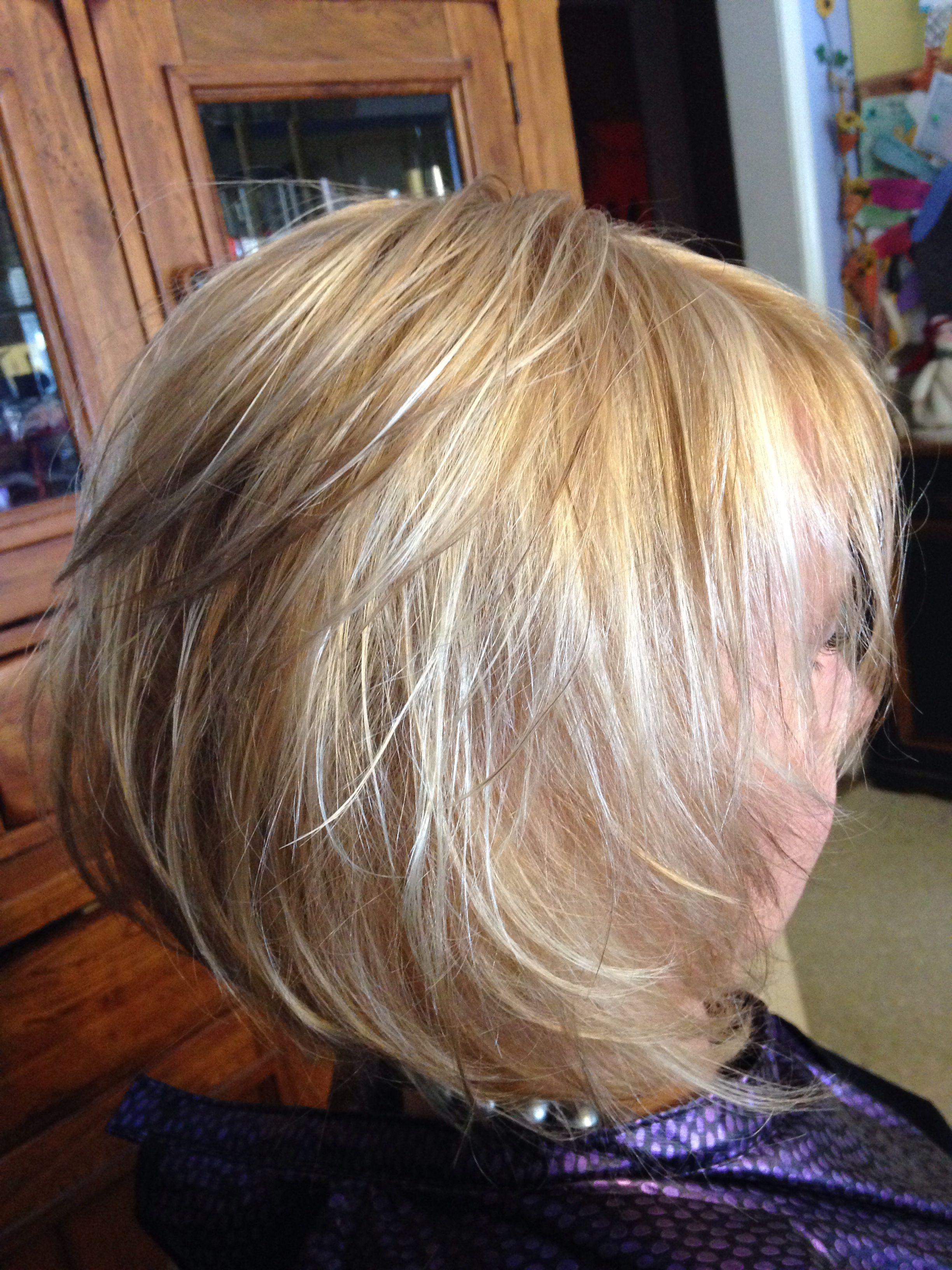 blonde on blonde razor cut hair | sara's hair creations