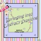 Five #literacy #stations are ready to print and use!   #classroom #education