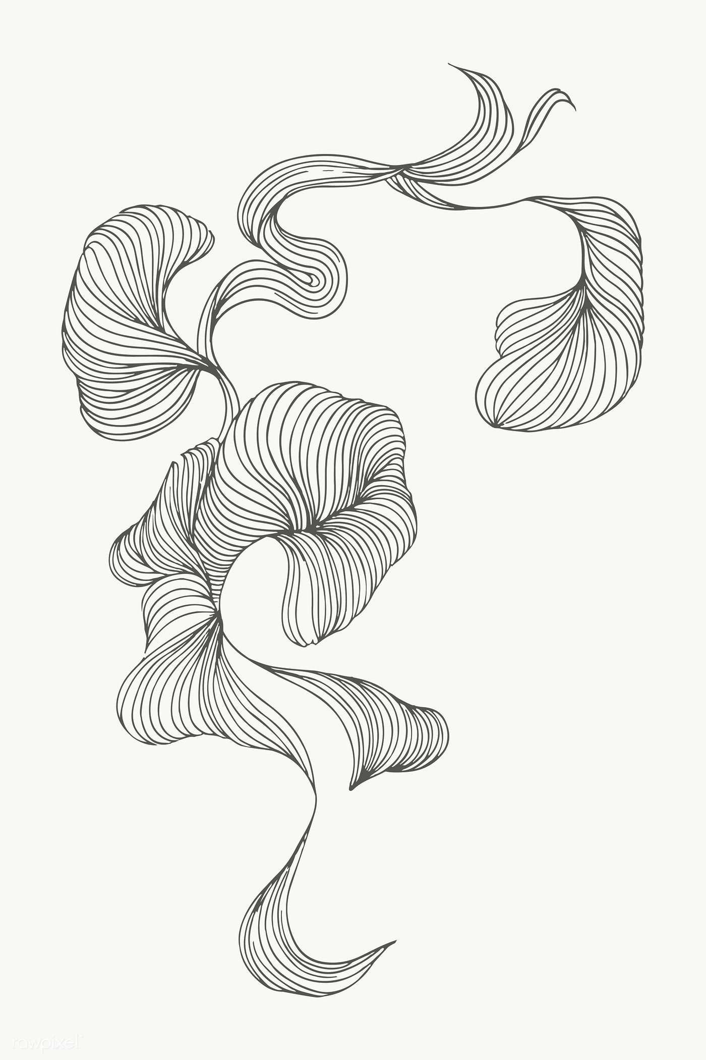 Swirly Abstract Art Design Transparent Png Premium Image By Rawpixel Com Nunny Line Art Drawings Abstract Line Art Abstract Art Collection