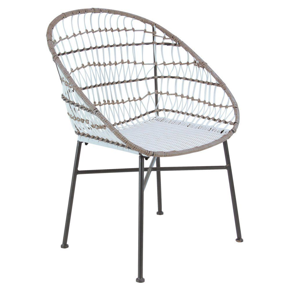 Decmode iron and rattan accent chair rattan chair