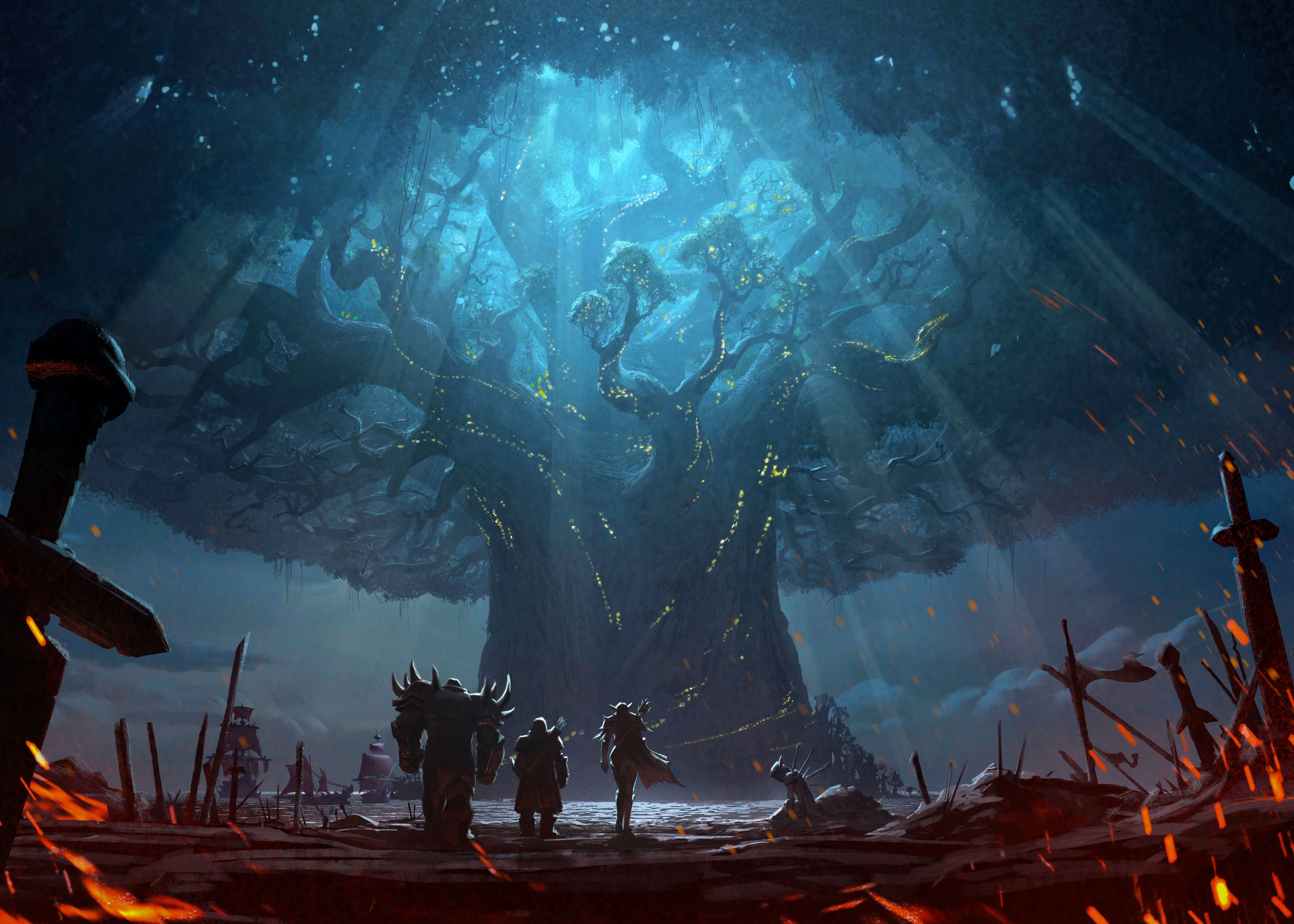 Teldrassil World Of Warcraft Abstract Poster Art