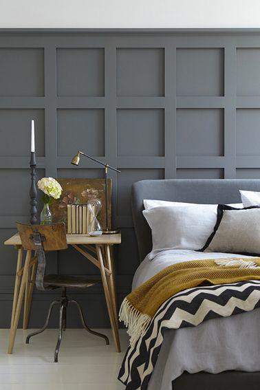 peinture grise dans chambre adulte