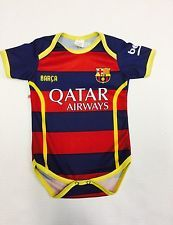 BARCELONA BABY OUTFIT MESSI#10,NEYMAR,SIZE 0-6/6-12MONTHS CUSTOMIZE AVALIABLE