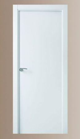 Puerta de interior lacada blanca lisa maciza valencia - Puertas lisas blancas ...