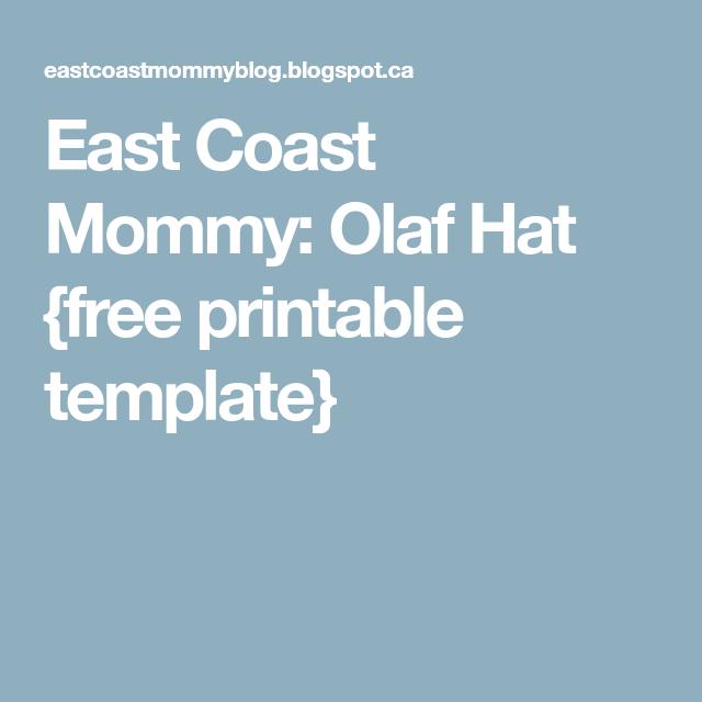 Olaf Hat Free Printable Template