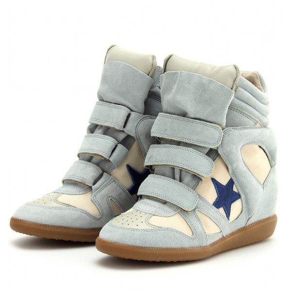 Isabel Marant Bayley Series Blue Star Light Blue Sneakers Color: Grey, blue  Material: 100% high quality suede and leather Heels: Hidden wedge heels…