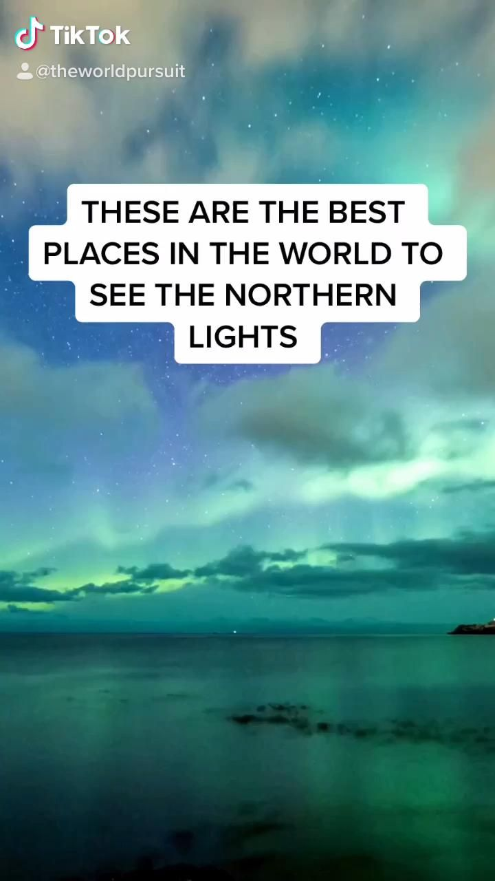 Best places to see the northern lights in the world / travel in iceland / things to do in iceland #iceland #northernlights #aurora