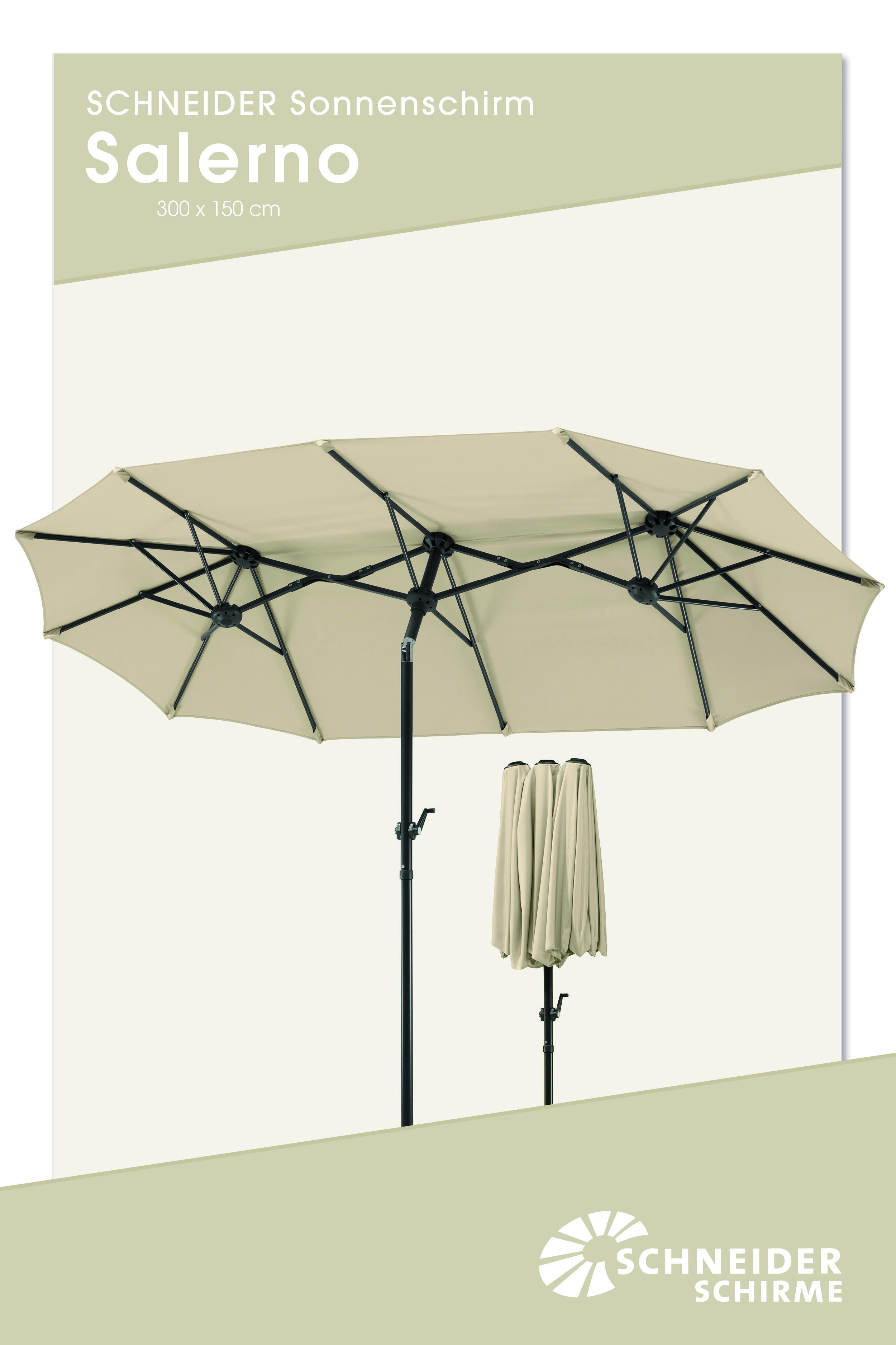 Sonnenschirm Salerno 300 X 150 Cm Bespannung 100 Polyester