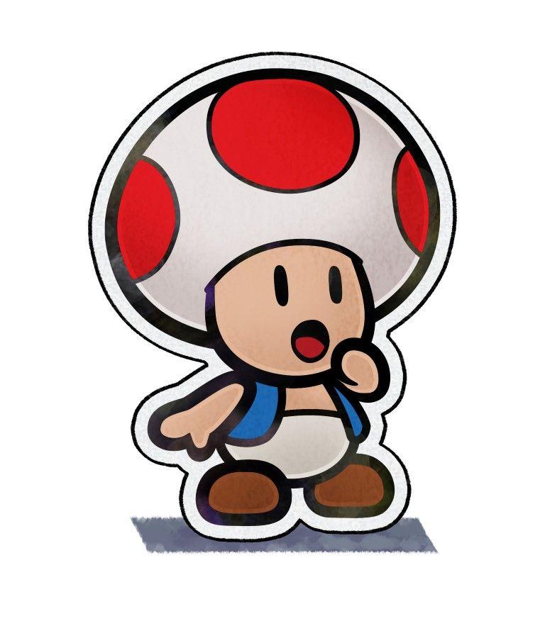 Paper Toad Mario Luigi Paper Jam Bros Paper Mario Color