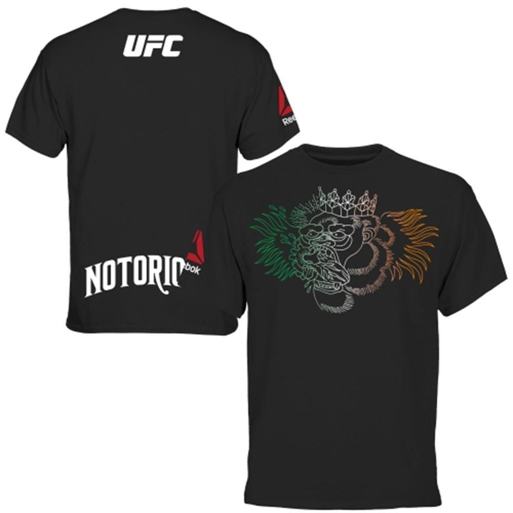 0125c5f1 Mens Conor McGregor Reebok Black UFC Fight Night Boston Weigh-In T ...