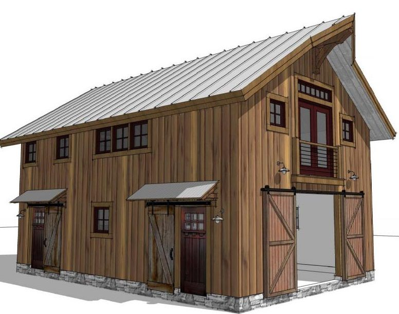 The perfect blend of loft apartment and first floor barn for Barn plans with loft apartment