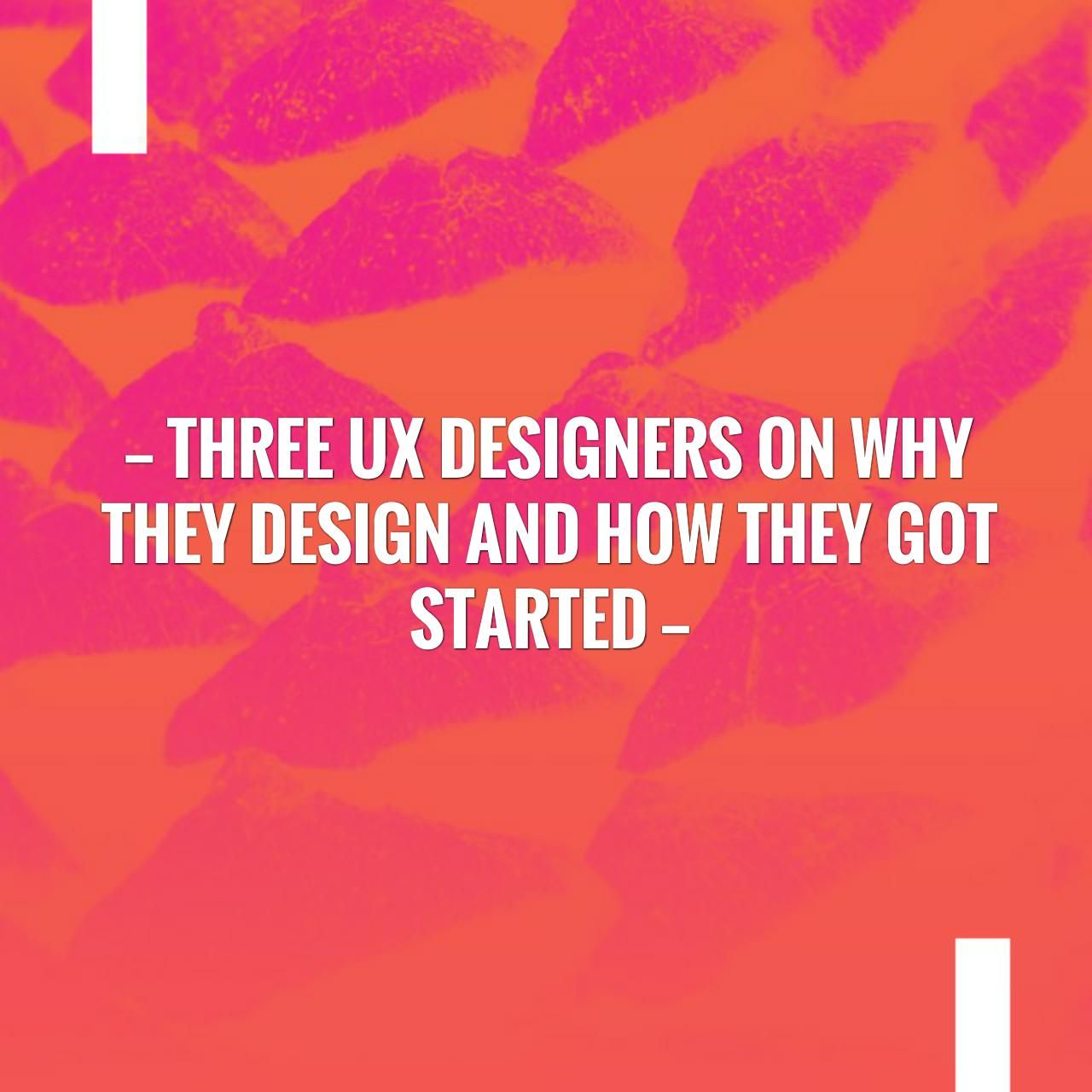 Three UX Designers on Why They Design and How They Got