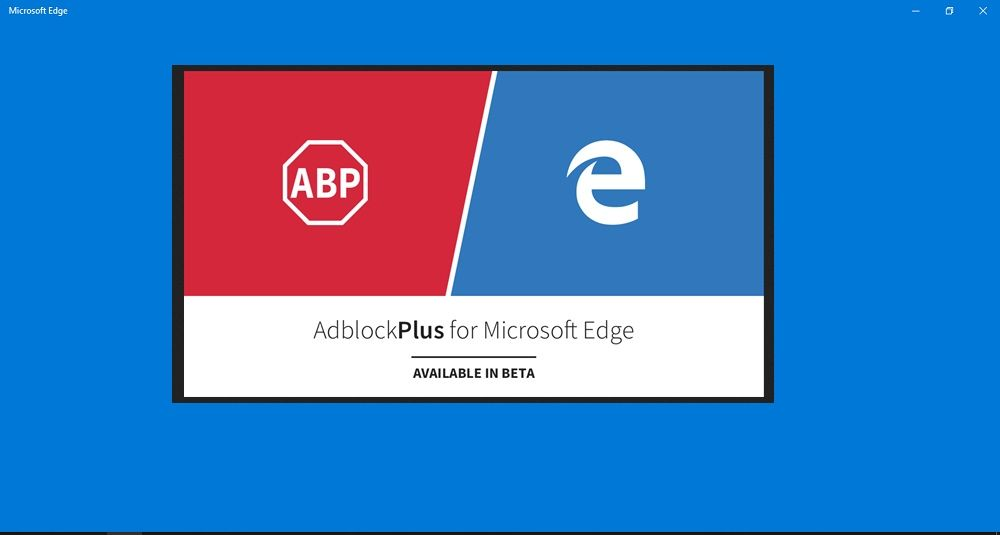 Edge Extensions Adblock Plus Available Through Windows 10