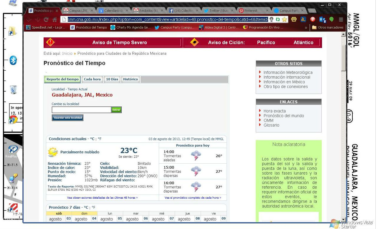 PANEL  DE DATOS CLIMATICOS CON METAR (texto en  crudo )