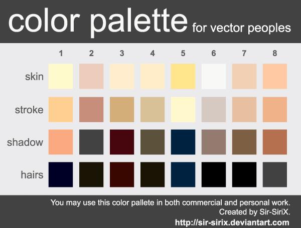Skin Tone Color Palette Design in Vector Eps Format | Fonts ...