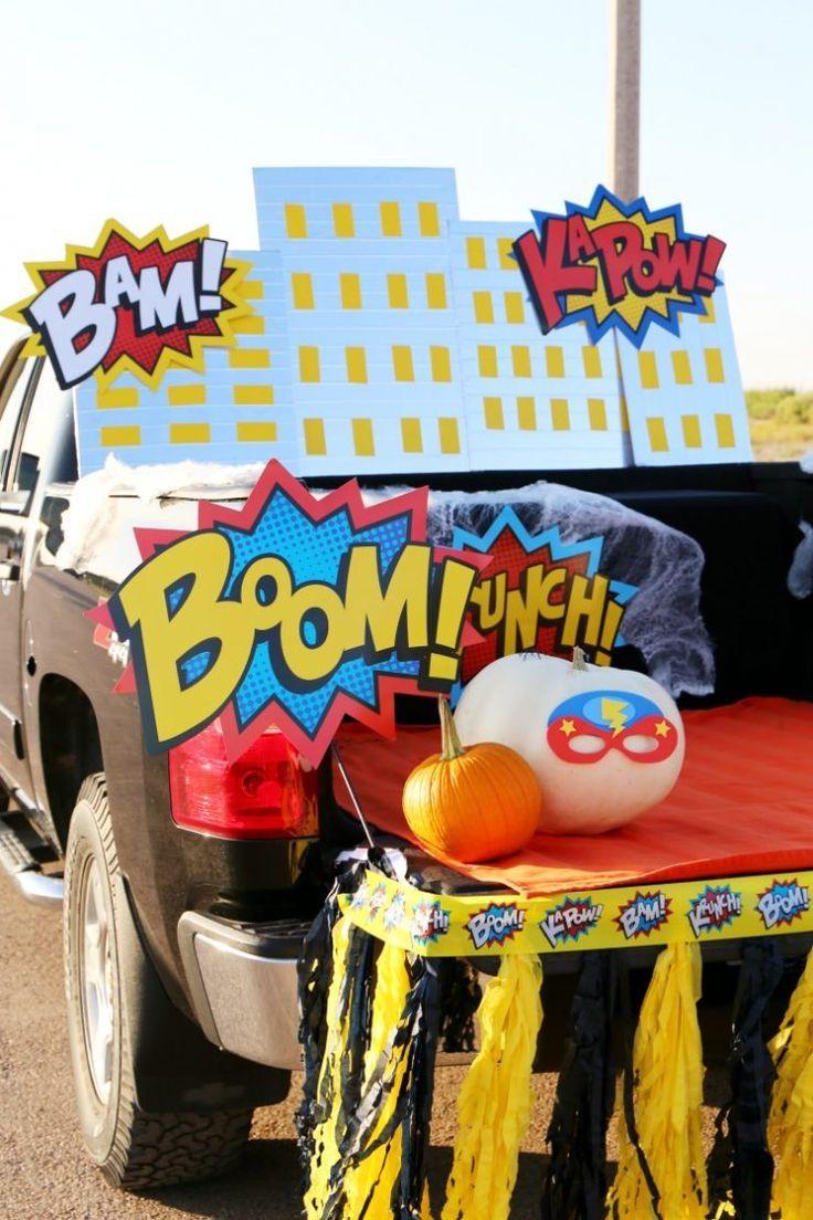 Superheld Halloween Trunk oder Treat Ideen DIY Skyline