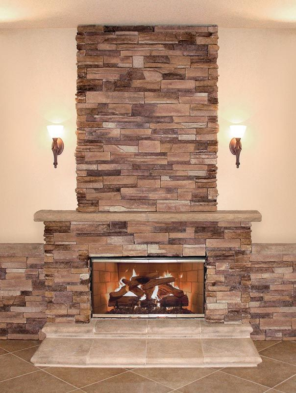 Best Stone Veneer For Fireplace Stacked Stone Fireplaces