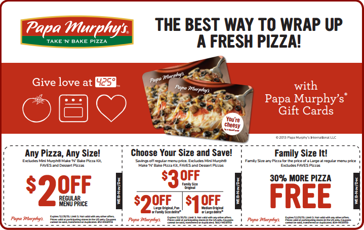 graphic relating to Papa Murphy's $3 Off Printable Coupon identified as Bianca Louis (biancalouis) upon Pinterest