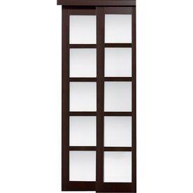 Reliabilt 5 Lite Frosted Glass Sliding Closet Interior Door 72 In 80 In Sliding Doors Interior Bifold Closet Doors Sliding Closet Doors
