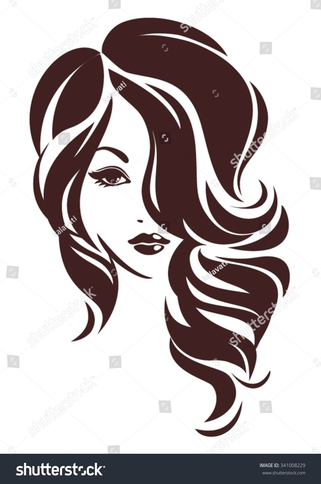 Girl with hair loose, vector logo design bichos in 2019