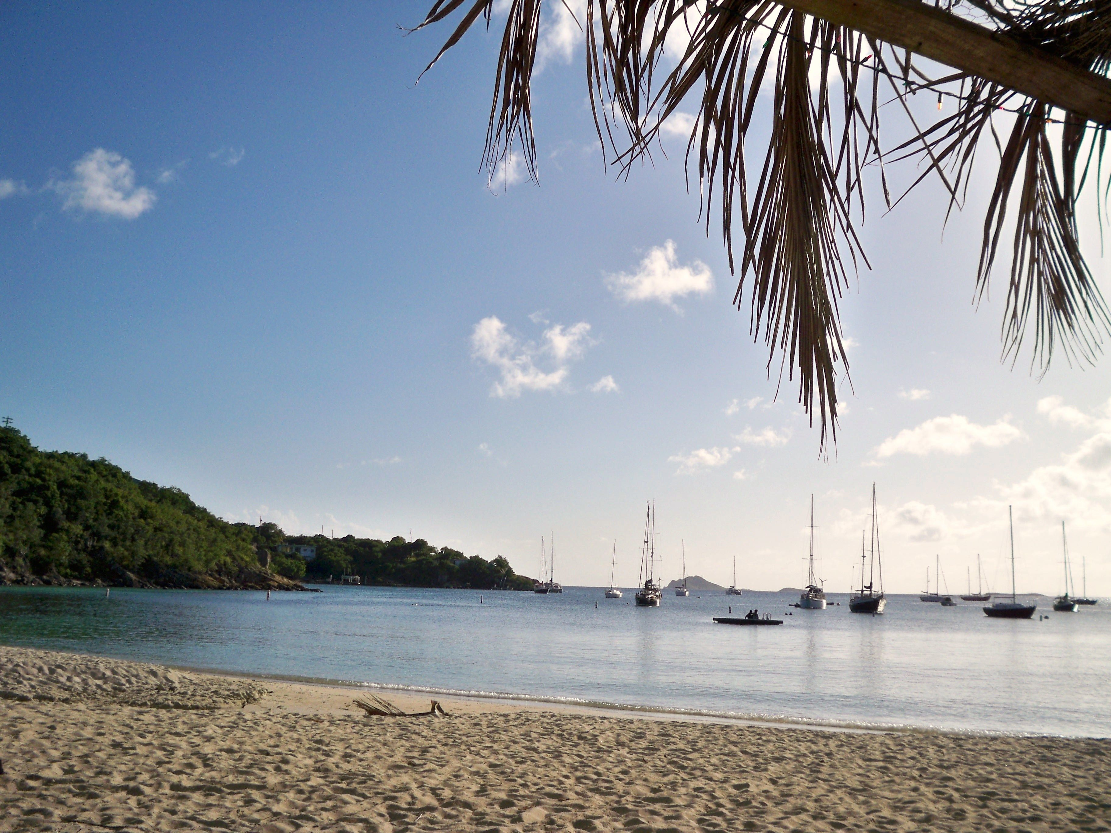 The sailboats gather to say goodbye to the sun in the #USVI.