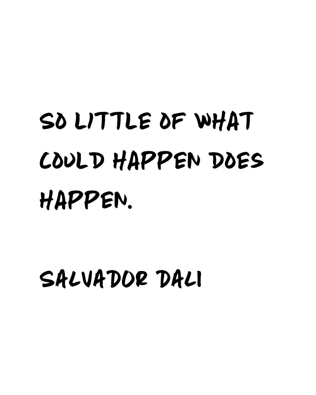 Printable Salvador Dali Quote