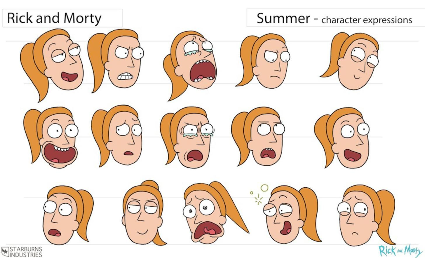 Character Design Requirements : Rick and morty storyboard guidelines cartoon