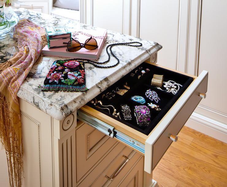 Designer Walk In Closet With Jewelry Island Luxury Closet Home Dream Closet Design