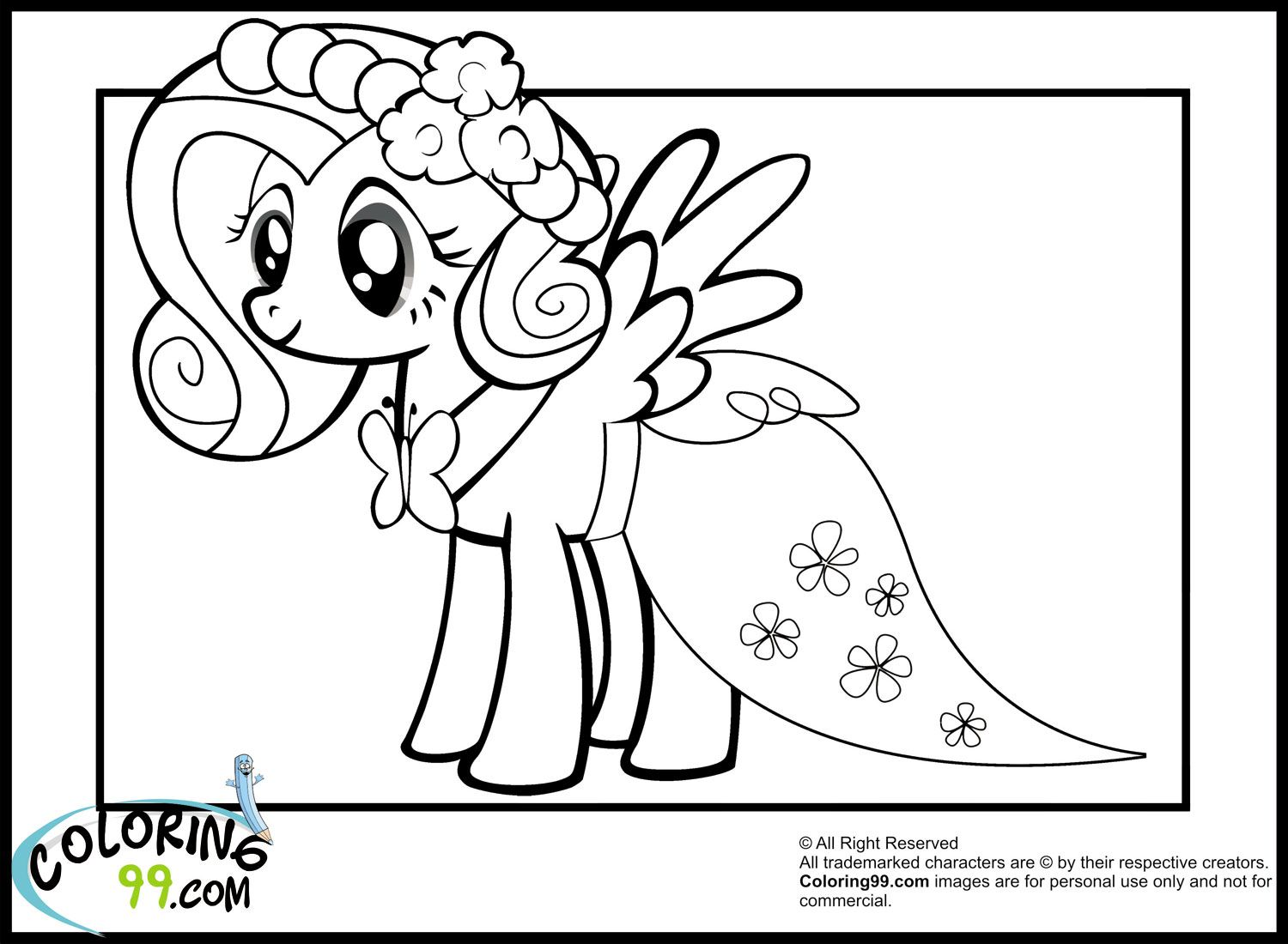 fluttershy-in-wedding-dresses-coloring-pages.jpg (1500×1100 ...