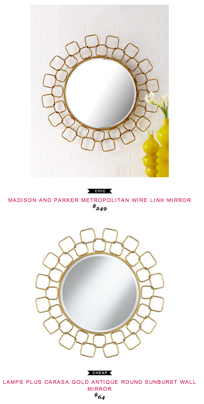 Wire capiz sunburst wall mirror - Madison Parker Metropoliton Wire Link Mirror 249 Vs Lamps Plus Carasa Gold Antique