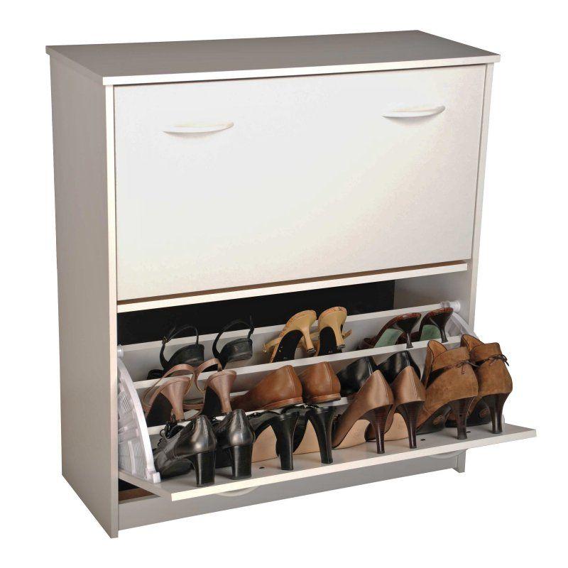Venture Horizon Double Level Shoe Storage Cabinet White 4230 11wh