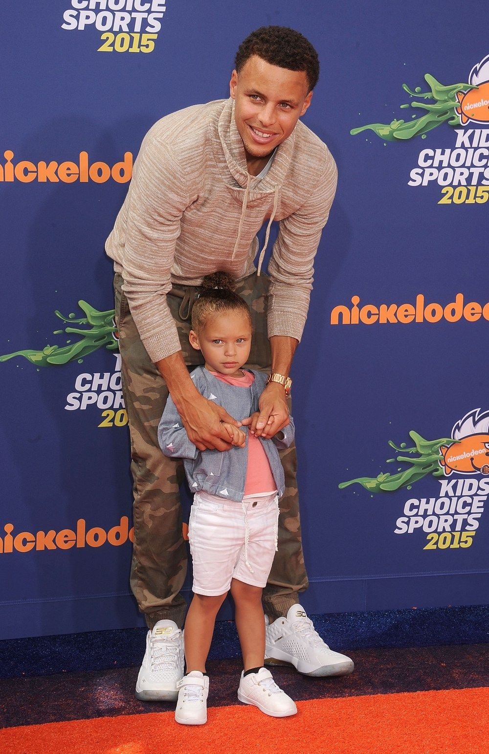 9764eef61bad Discover ideas about Curry Daughter. Stephen Curry   Riley Curry from 2015  Kids  Choice Sports Awards Red ...