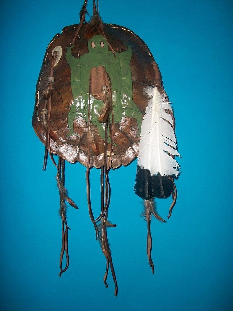 Native american cherokee authentic vintage turtle shell
