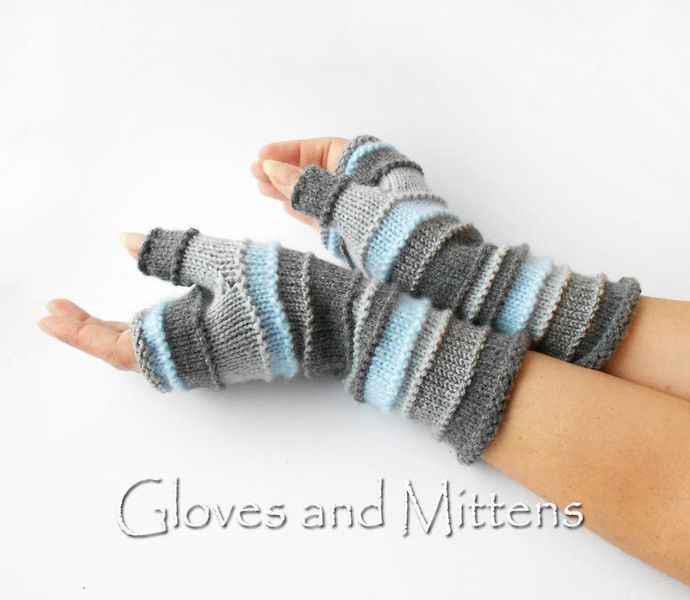 Photo of Handschuhe – graue Handschuhe, Armstulpen, Handgelenkstulpen. – ein Designerstück …