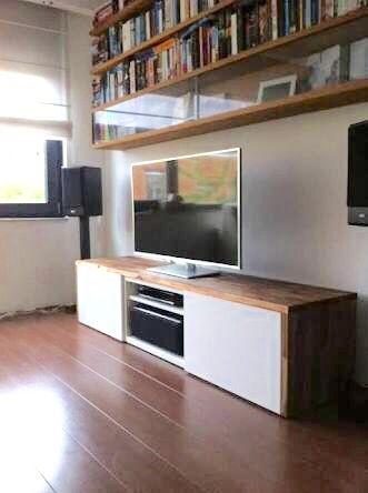 BESTÅ clad with kitchen worktops
