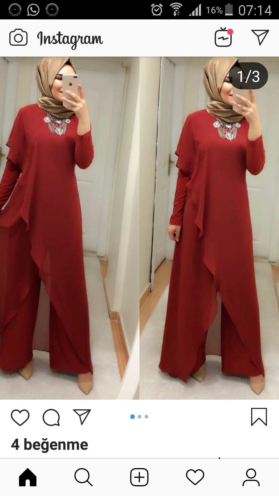 Perihan Adli Kullanicinin Hijab Panosundaki Pin Islami Giyim Elbise Modelleri Elbise