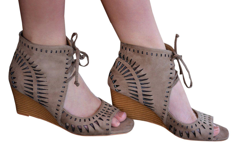 371db2f4e9dd68 Chellysun Womens Peep Toe Platform Espadrille Wedge Sandals summer boho  sandals  fashion  style